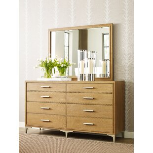 Rachael Ray Home Hygge 8 Drawer Double Dresser with Mirror