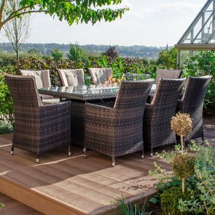 Goodfellow 8 Seater Dining Set With Cushions By Sol 72 Outdoor