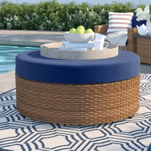 Waterbury Ottoman with Cushion by Sol 72 Outdoor