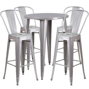 Latitude Run Bowdon 5 Piece Bar Height Dining Set