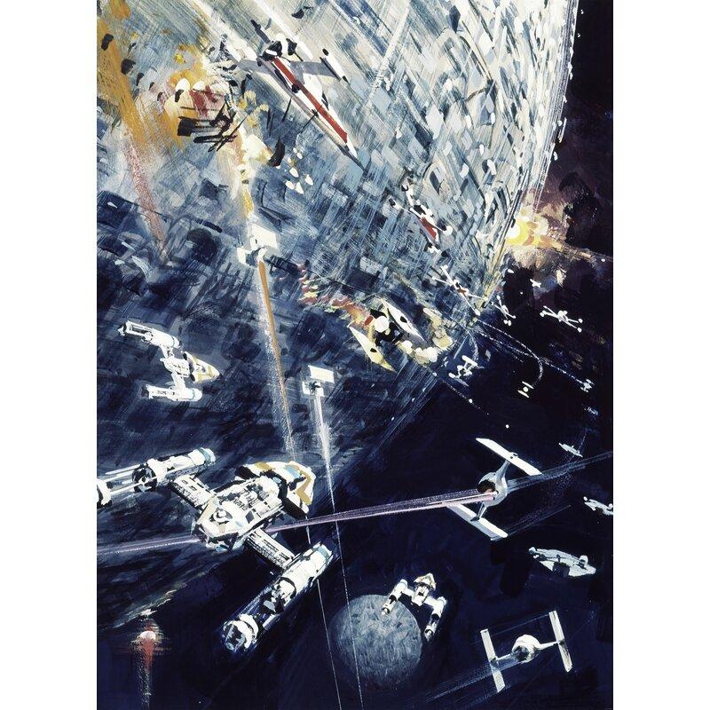 Komar Star Wars Classic Dogfight 2 75m X 2m Wall Mural Wayfair Co Uk