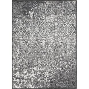 Inexpensive August Black Area Rug By Wrought Studio