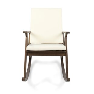 Union Rustic Ossu Outdoor Rocking Chair with Cushions