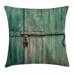 Old Metal Door Square Pillow Cover by East Urban Home
