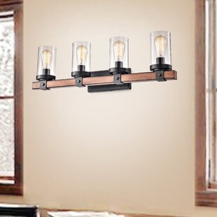 Kyra Cylinder Rectangle 4-Light Armed Sconce by 17 Stories