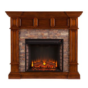 Sherrie Simulated Stone Convertible Electric Fireplace by Alcott Hill