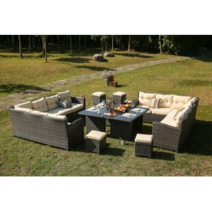 Ironstone 10 Piece Patio Sectional Set with Cushions