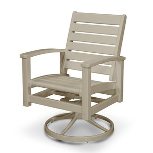Bax Swivel Patio Dining Chair by Rosecliff Heights