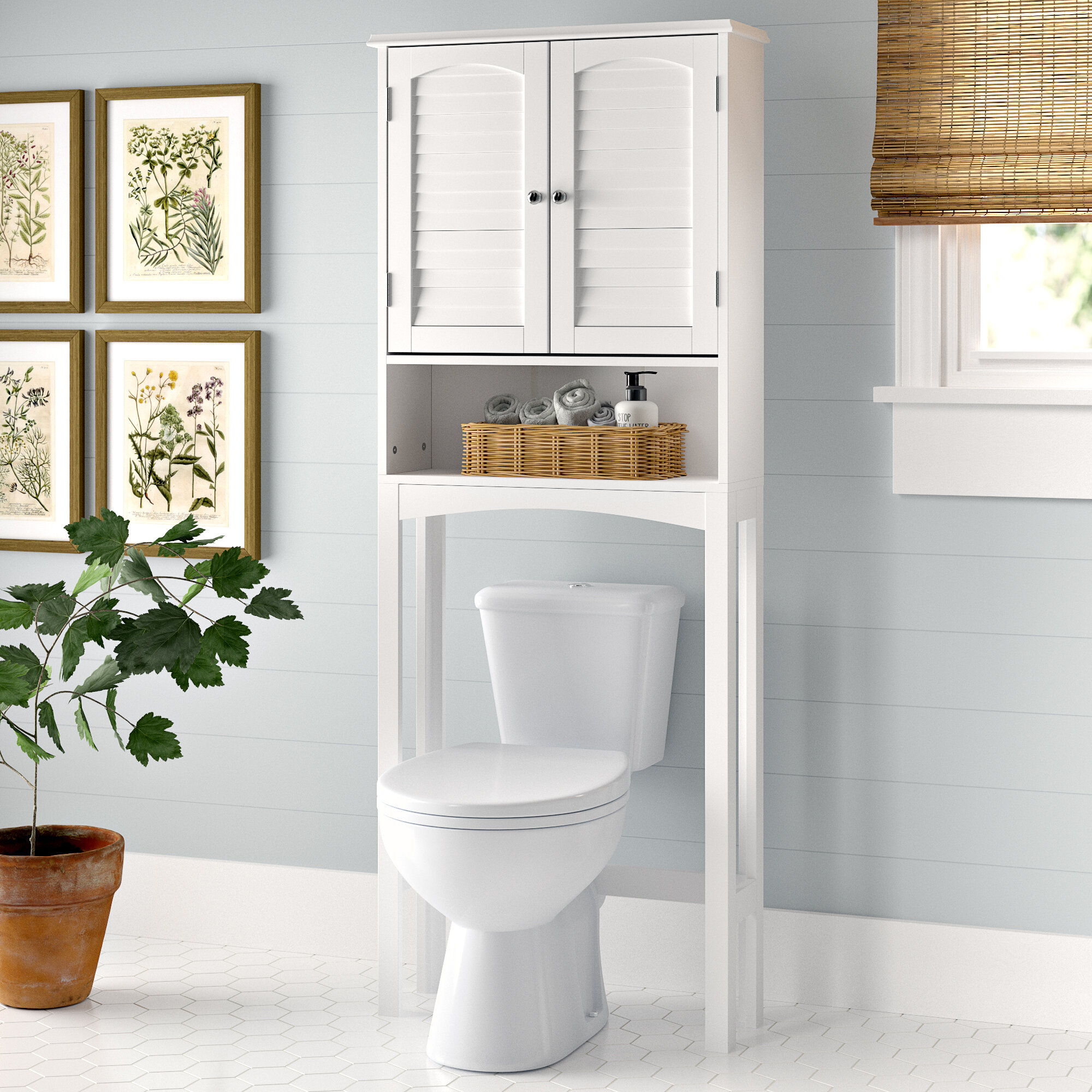 Forbis Space Saver 25 W X 64 H Over The Toilet Storage Reviews