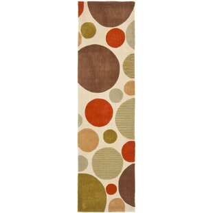 Inexpensive Modern Art Ivory/Multi Rug By Safavieh