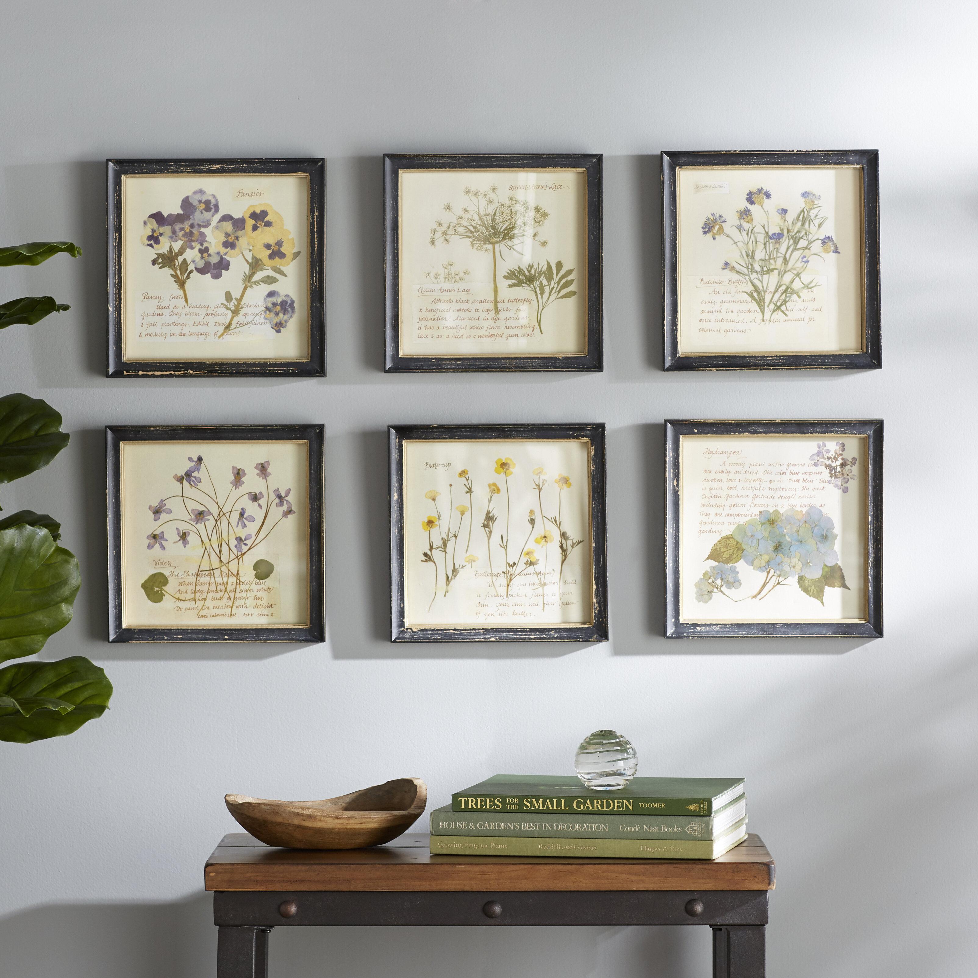Floral Images 6 Piece Picture Frame Graphic Art Print Set Reviews Birch Lane