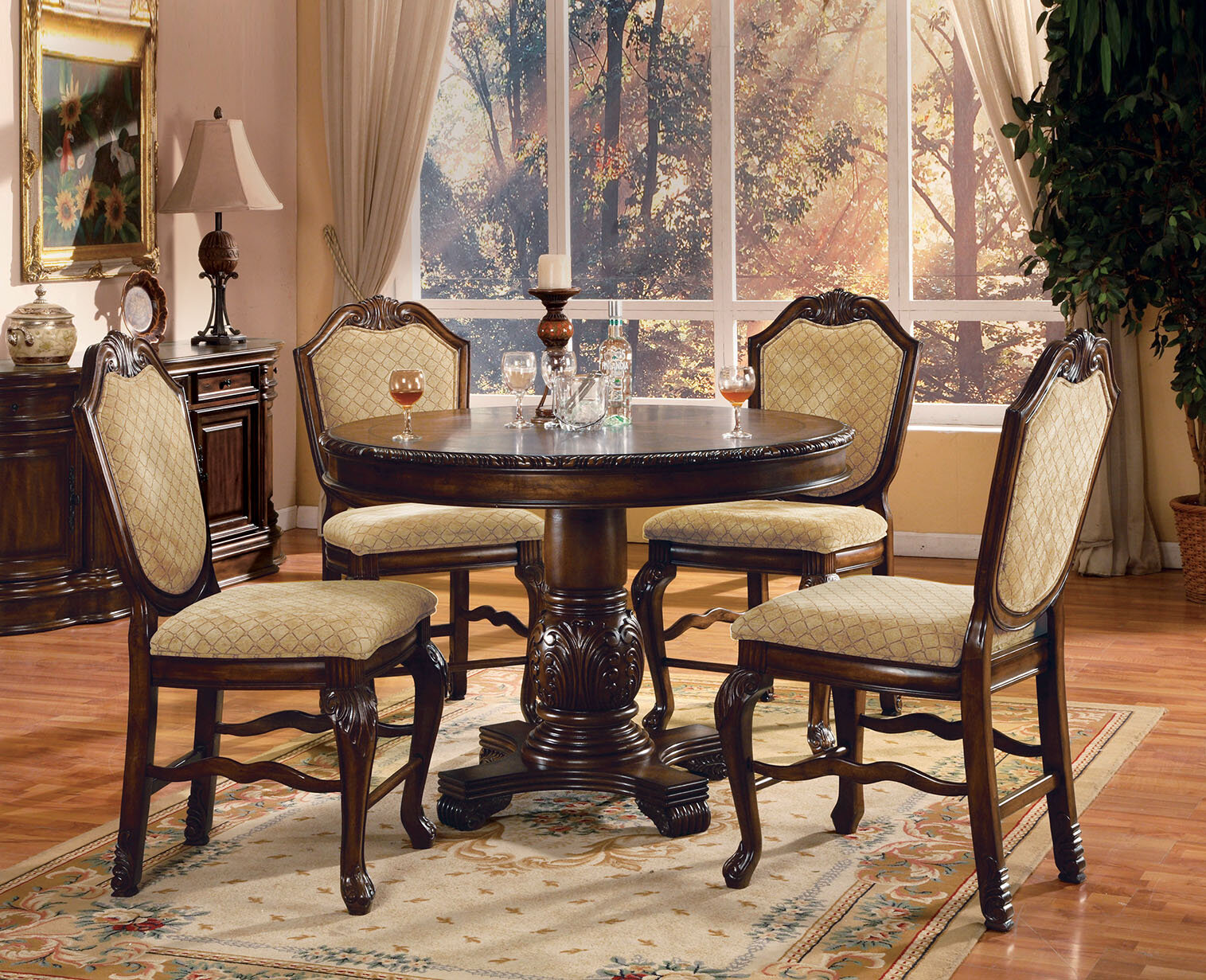 Astoria grand mcclelland 5 piece counter height dining table set wayfair