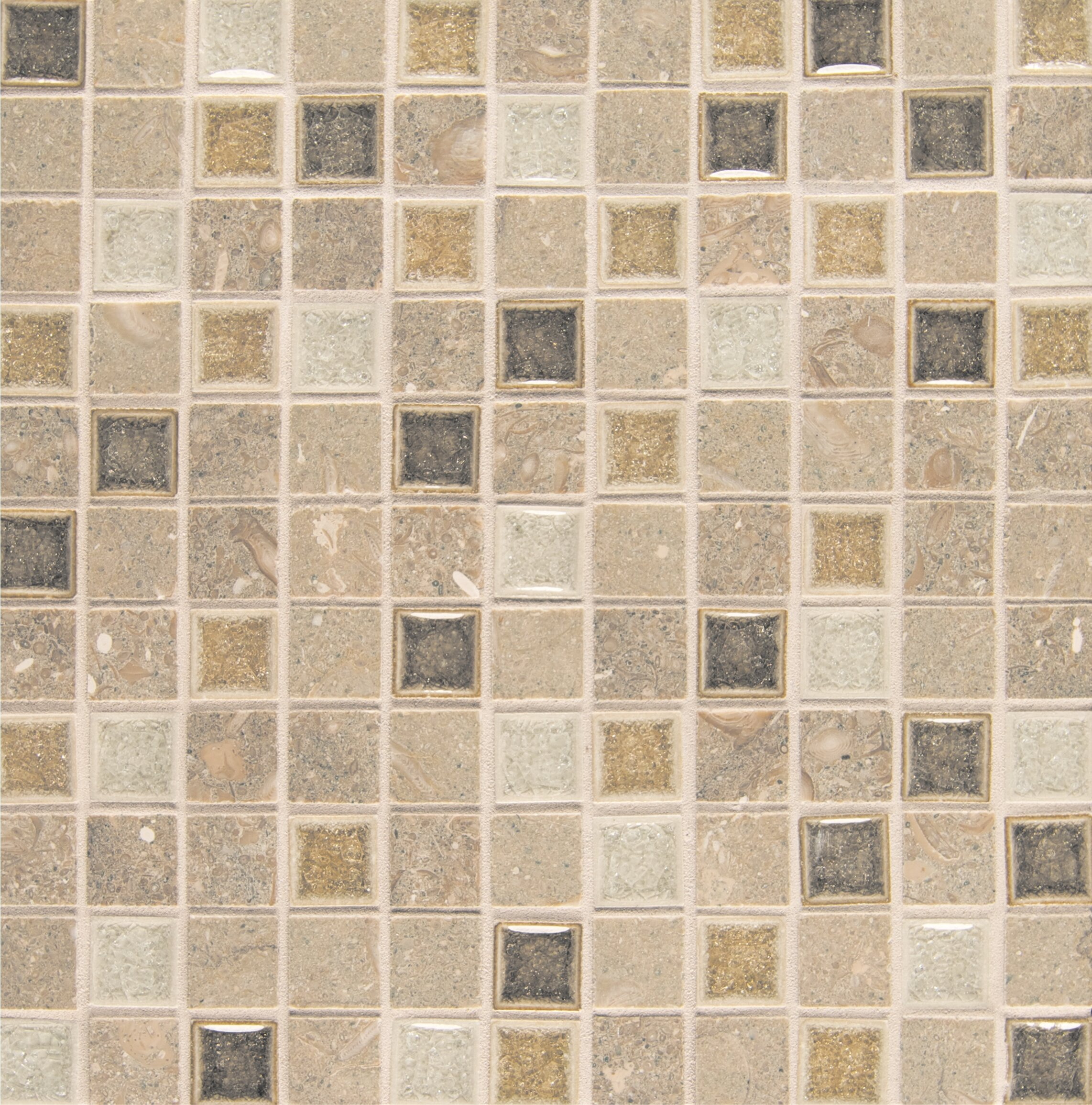 Bedrosians Kismet 1 X 1 Glass Mosaic Tile In Joy Wayfair