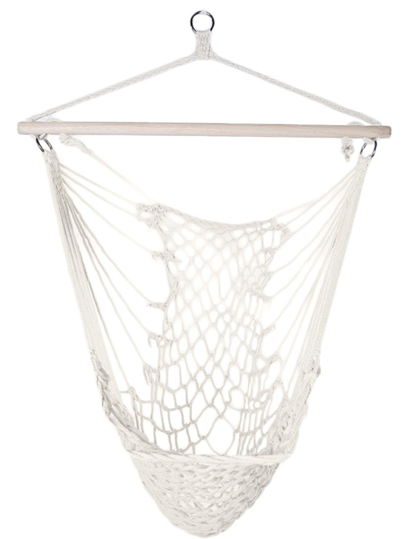 Bungalow Rose Flythe Cotton Hanging Rope Air Sky Swing Chair Hammock Reviews