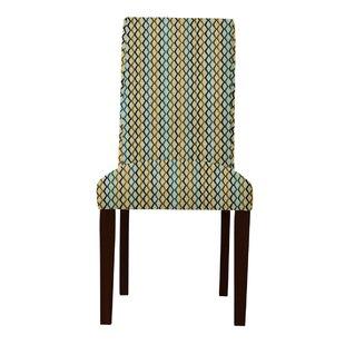 Latitude Run Beachwood Lattice Parsons Chair (Set of 2)