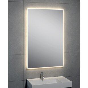 Bargain Hasting LED Round Corner Wall Mirror ByLatitude Run