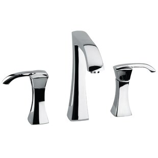LaToscana Lady Deck Mount Widespread Lavatory Faucet with Drain Assembly