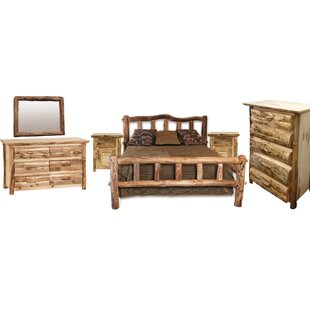 Rustic Arts® Platform 4 Piece Bedroom Set