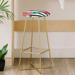 Natalie Baca Stripes and Blooms 31 Bar Stool East Urban Home