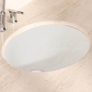 Find American Imaginations Ceramic Oval Undermount Bathroom Sink with Overflow By American Imaginations