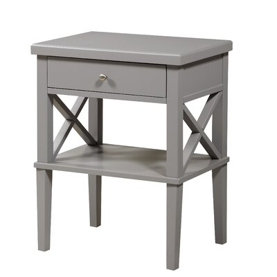 Silvestri 1 Drawer Nightstand Color: Gray by Andover Mills