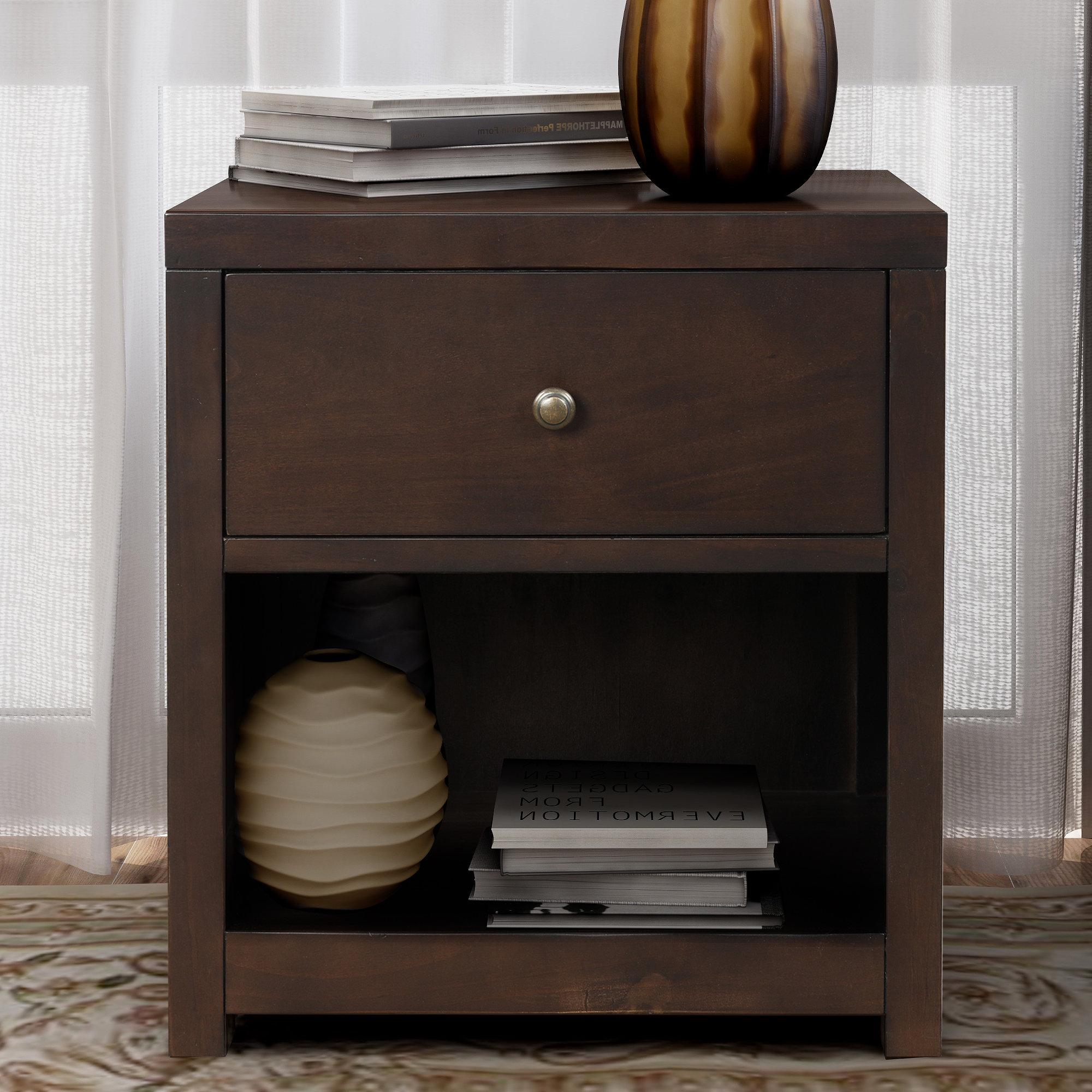Latitude Run Chatham 1 Drawer Solid Wood Nightstand Reviews Wayfair