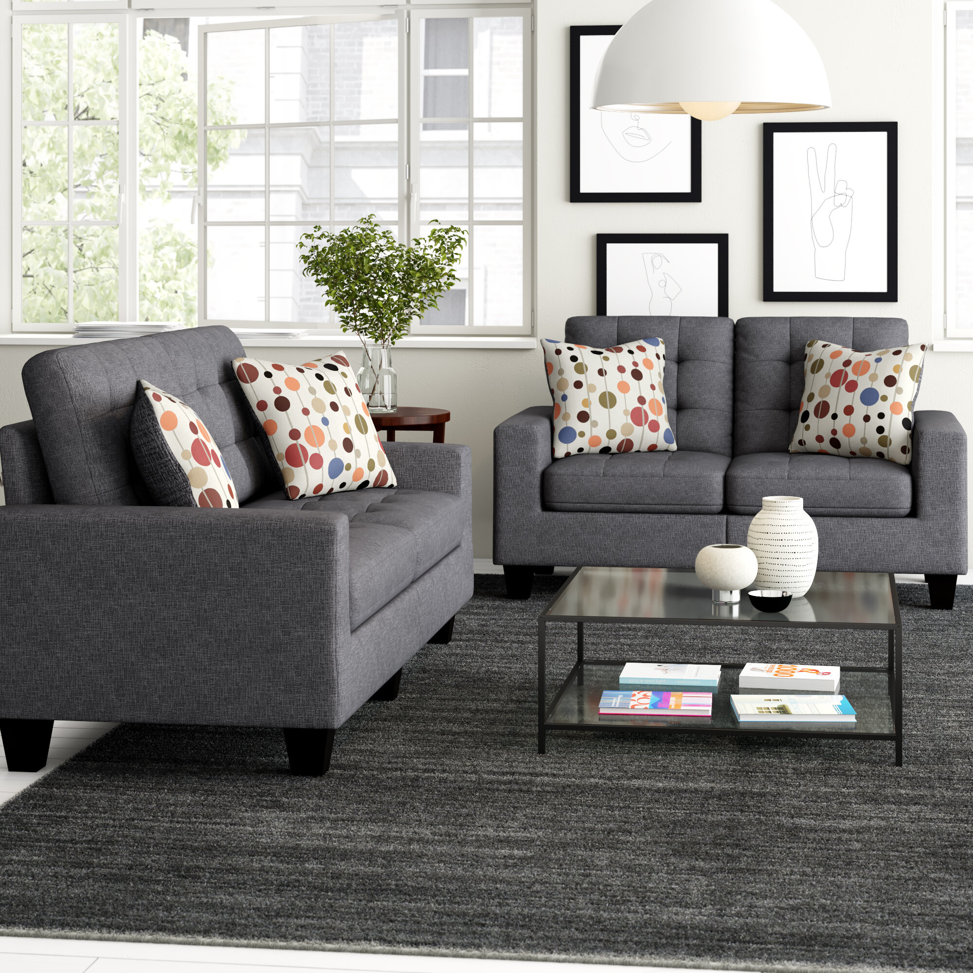Amia 7 Piece Living Room Set