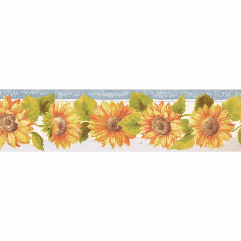 August Grove Kingsford Sunflower 15 L X 5 25 W Wallpaper Border