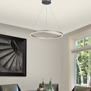 Chifdale Orbicular 1-Light LED Geometric Pendant by Wade Logan