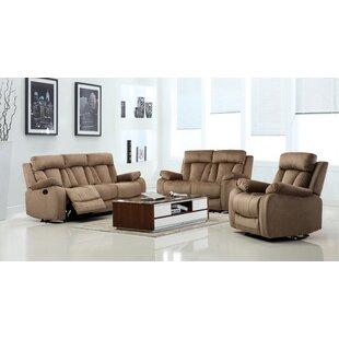 Red Barrel Studio Troxler Reclining 3 Piece Living Room Set