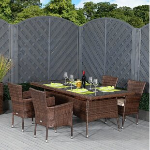 Finney 4 Seater Dining Set With Cushions By Sol 72 Outdoor