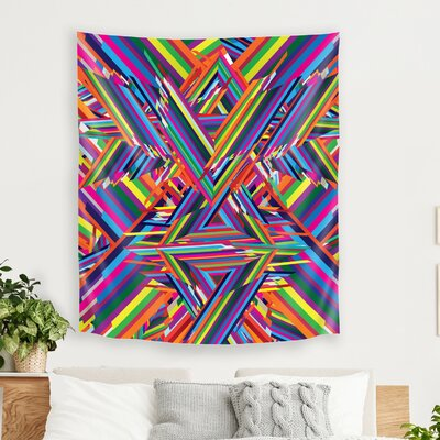 The Shattering by Joe Van Wetering Tapestry East Urban Home Size: 80 H x 68 W x 1 D