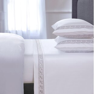 Chasing Embroidered 4 Piece 600 Thread Count 100% Cotton Sheet Set
