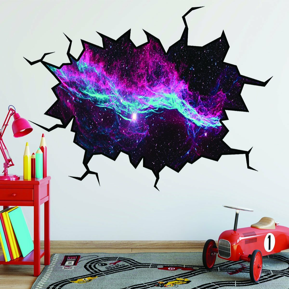East Urban Home Outer Space Universe Hole Wall Decal Wayfair
