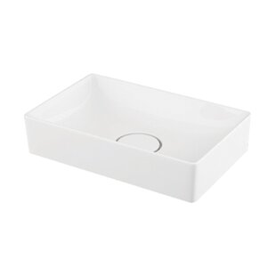 Price comparison Quincy Vitreous China Rectangular Vessel Bathroom Sink By Transolid