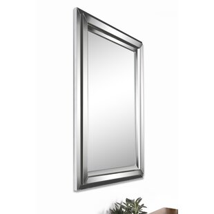 Beveled Mirror With Mirrored Border