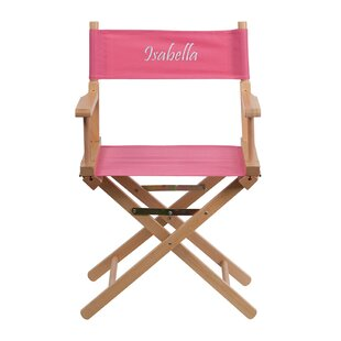 Maynor Embroidered Standard Height Folding Director Chair by Winston Porter