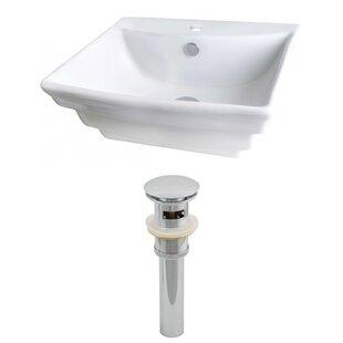 Price comparison Ceramic Rectangular Vessel Bathroom Sink with Overflow ByRoyal Purple Bath Kitchen