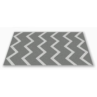 Reviews Roswell Chevron Kids Gray/white Area Rug By Zoomie Kids