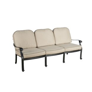 Darby Home Co Dunnes Patio Sofa with Sunbrella Cushions (Set of 2)