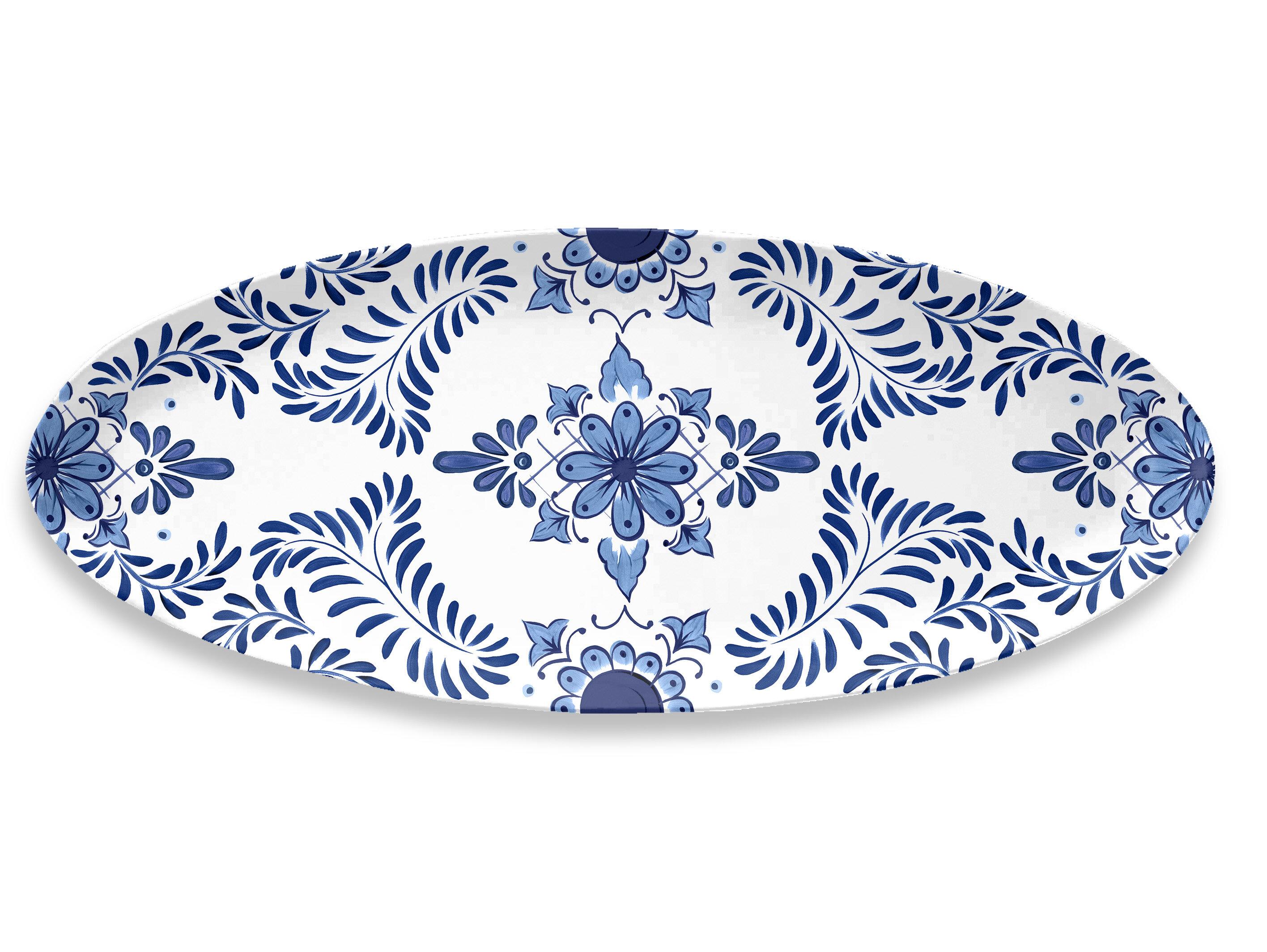Bloomsbury Market Eldert Oval Melamine Platter Reviews Wayfair
