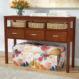 Best Bristol Wood Drawer Console Table By Red Barrel Studio