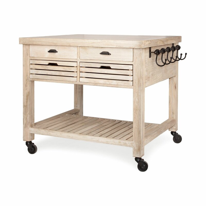 Clearfield Kitchen Island Solid Wood. Get the Look: Scrivano FIXER UPPER Cottage Decor!