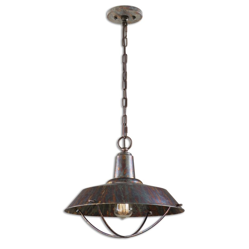English Country bronze pendant light for kitchen