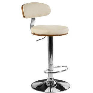 Stovall Bentwood/Leather Swivel Bar Stool By Metro Lane