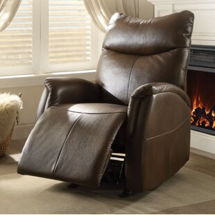 Woll Leather Manual Glider Recliner