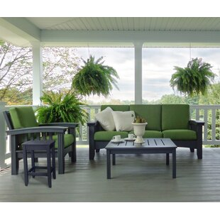 4 Piece Sunbrella Sofa Set with Cushions by Hershy Way