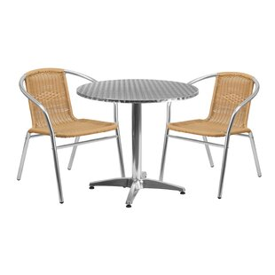 Red Barrel Studio DuJuan 3 Piece Bistro Set