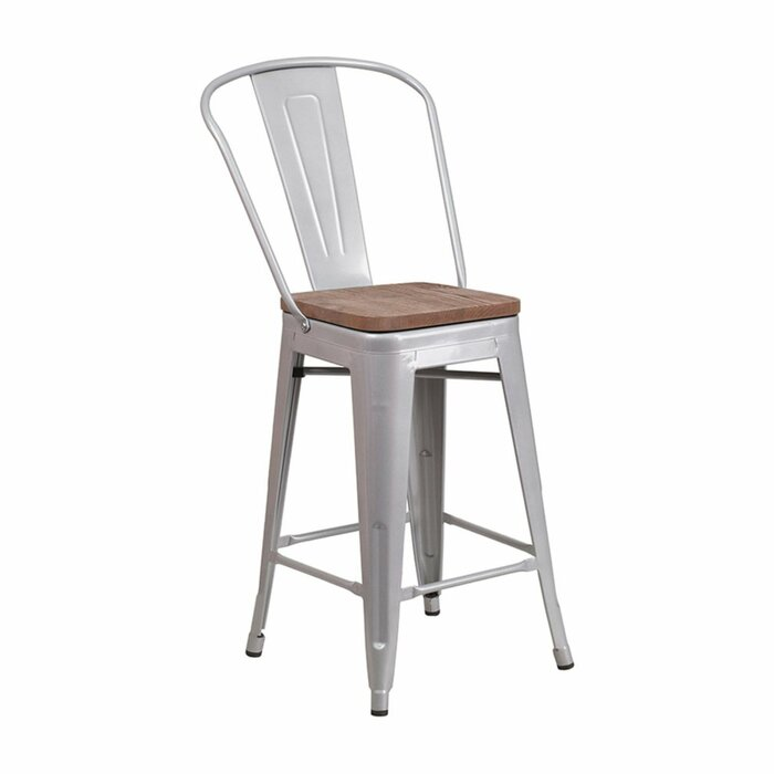 Outstanding Ilene 24 Bar Stool Creativecarmelina Interior Chair Design Creativecarmelinacom