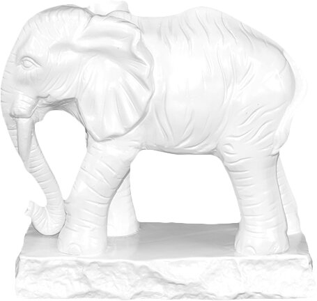 Detailed Ceramic Elephant Figurine